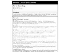 The Ice Cream Shop Lesson Plan