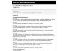 Household ProductsPast to Future Lesson Plan
