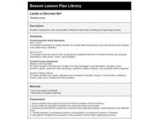 Lender or Borrower Be? Lesson Plan