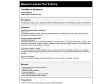 The West in Brochures Lesson Plan