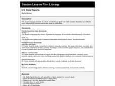 U.S. State Reports Lesson Plan