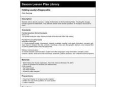 Holding Leaders Responsible Lesson Plan