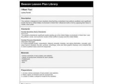 I Want You! Lesson Plan