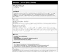 Why Can't I Vote? Lesson Plan