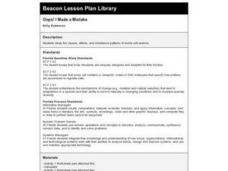 Oops! I Made a Mistake Lesson Plan