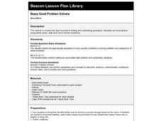Beary Good Problem Solvers Lesson Plan