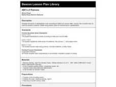 ABC's of Ramona Lesson Plan