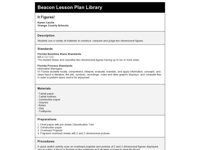 It Figures! Lesson Plan