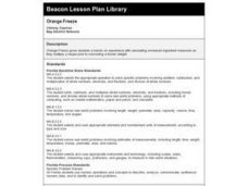 Orange Freeze Lesson Plan