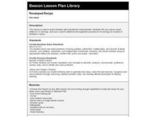 Revamped Recipe Lesson Plan