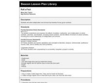 Roll a Fact Lesson Plan