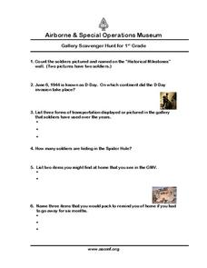 Airborne & Special Operations Museum Worksheet