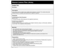 Double This Lesson Plan
