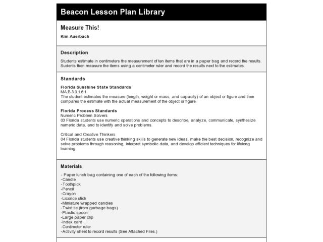 Measure This! Lesson Plan