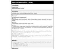 Complexity Lesson Plan