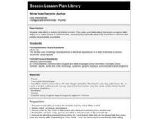 Write Your Favorite Author Lesson Plan