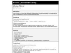 Window of Words Lesson Plan
