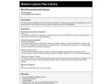 Word Processing With Pizazz Lesson Plan