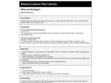 Where Do We Begin? Lesson Plan