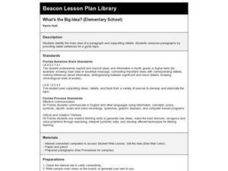 What's the Big Idea Lesson Plan