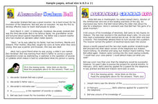 Alexander Graham Bell Worksheet