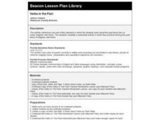 Verbs in the Past Lesson Plan