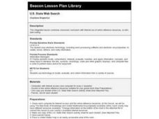 U.S. State Web Search Lesson Plan