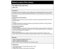 The Teller of the Tale, Part 3 Lesson Plan