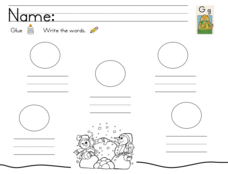 Kelly's Kindergarten: G Words Worksheet