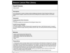 Superb Sonnets Lesson Plan