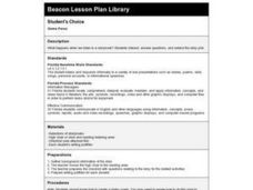 STUDENT'S CHOICE Lesson Plan