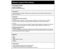 Scavenger Search Lesson Plan
