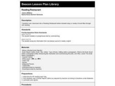 Reading Restaurant Lesson Plan