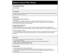Scrambled Stories Lesson Plan