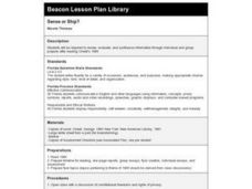 Sense or Ship? Lesson Plan