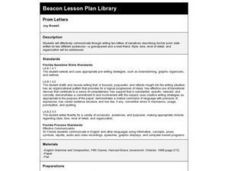 Prom Letters Lesson Plan