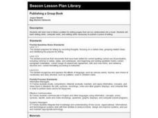 Publishing a Group Book Lesson Plan