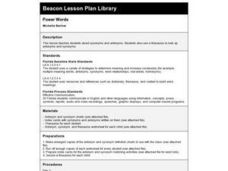 Power Words Lesson Plan