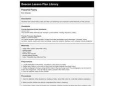 Powerful Poetry Lesson Plan