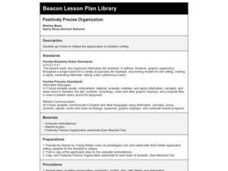 Positively Precise Organization Lesson Plan