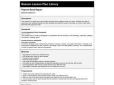 Popcorn Book Report Lesson Plan