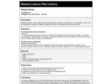 Poetry Voices Lesson Plan