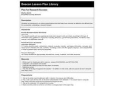 Plan for Research Success Lesson Plan
