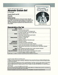Alexander Graham Bell Lesson Plan