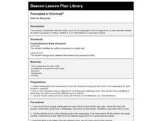 Persuaded or Informed? Lesson Plan