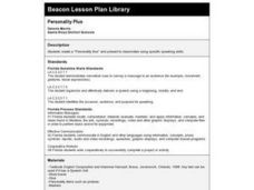 Personality Plus Lesson Plan