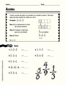 Algebra Worksheet
