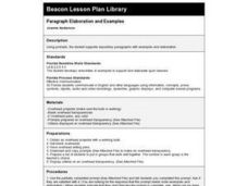 Paragraph Elaboration and Examples Lesson Plan
