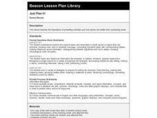Just Plan It! Lesson Plan