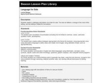 Language for Sale Lesson Plan